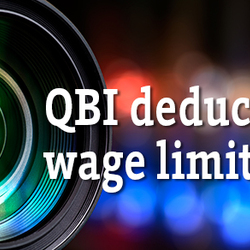 Close-up on the new QBI deduction's wage limit